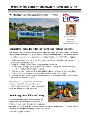 HPS Newsletter Example Cover